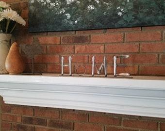 Handmade Vintage Silverware Art - 'Home'