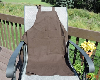 Professional Chef Apron - Brown