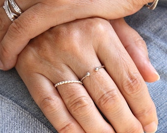 ring 925 sterling silver balls