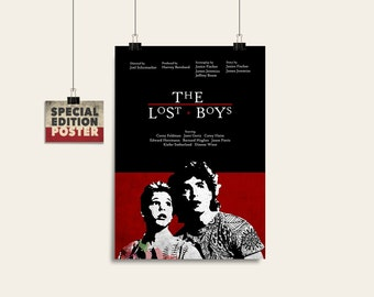 The Lost Boys, Movie art, Film print, Wall art print, Instant download, Digital download, Wall decor, Alternative poster, Movie poster
