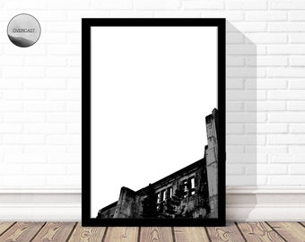Old Building Print | Architecture Photography | Architecture Print | Digital Wall Art | Printable Wall Art | Brick Building | Simple Print