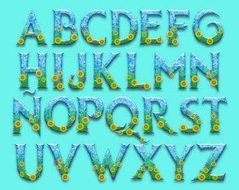 Frozen Fever - Alphabet Clipart - 92 png files 300 dpi