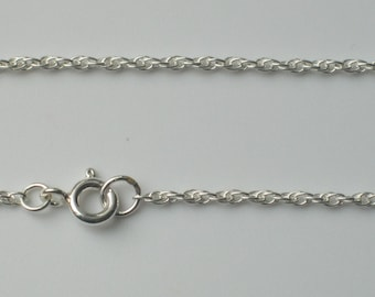 """925 Sterling Silver Prince of Wales Rope 1.8mm Bracelet Necklace Ankle Anklet Chain 6"""" - 30"""""""