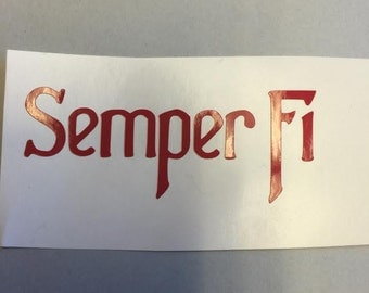 USMC Semper Fi Decal