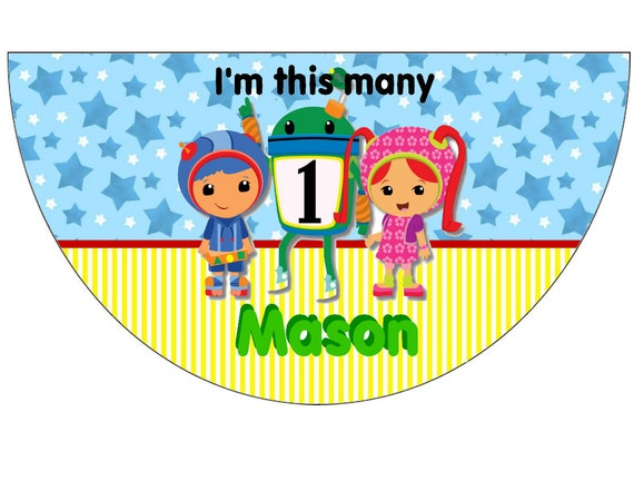 Team Umizoomi Birthday Party Hats