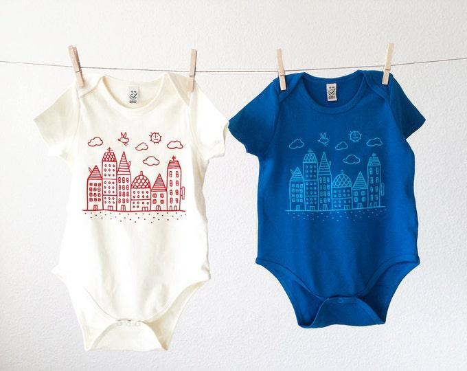 Organic Baby Bodysuit // Quiet City