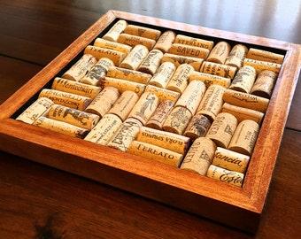 Wood Wine Cork Pot Holder Trivet (3pc sets available)