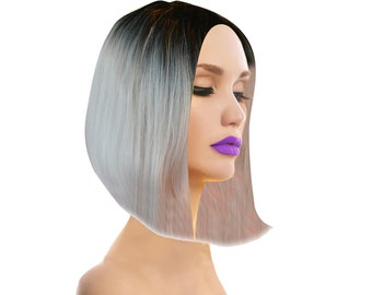 100% VIrgin Human Hair Wig Ombre Two-Tone