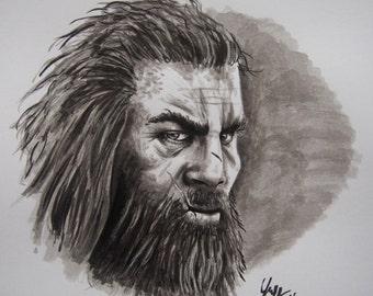 Drawing, ink Drawing, Takkar, Far Cry, Handmade Drawing, Ink Portrait, Portrait