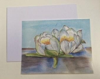 """Greeting card, """"Åkander/Waterlilies"""""""