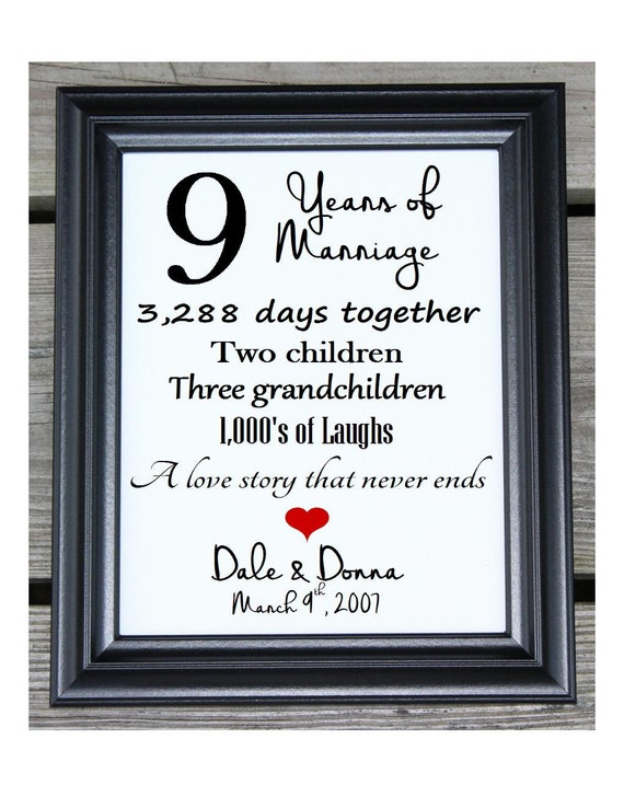 Th anniversary gift cotton print wedding years