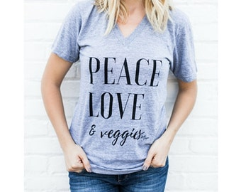 Peace, Love, and Veggie Tee