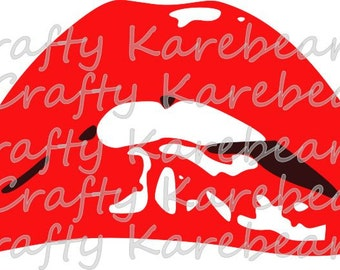 Rocky Horror Picture Show Lips SVG File