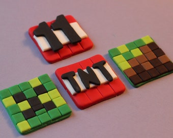 Fondant Blocks Fondant Cupcake Toppers Cake Decoration
