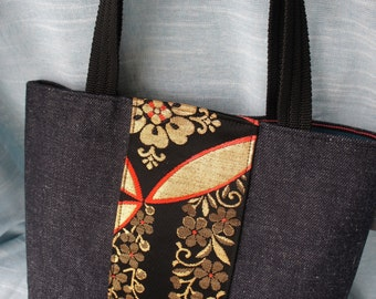 Japanese obi mini tote bag