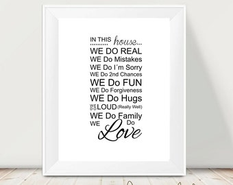 Printable art lettering - Love print - Lettering prints -  digital prints -  instant download - modern print - wall prints