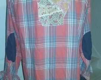 Vintage Flour Sack Quilt Top State Flannels
