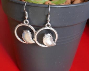Little birds - Silver bird earrings Silver earrings