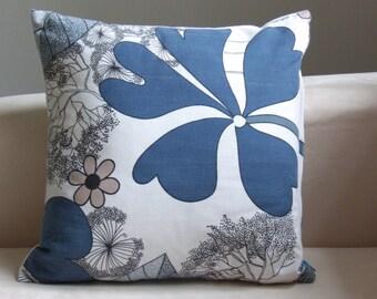 Handmade Vintage retro cushion cover and pad Swedish 1960's fabric