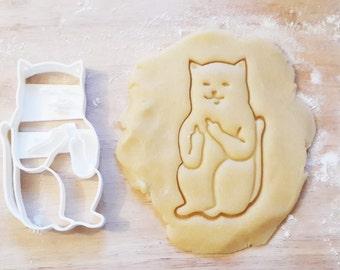 Cat chat cookie cutter kawaii birthday cake gateau adult emporte pièce 3d print mignon méchant vulgaire fuck funny