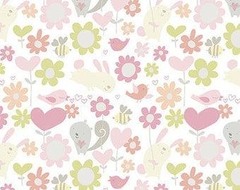 CLEARANCE - Free Spirit Fabrics - Posies - Hugs by David Walker - Juvenile Fabric