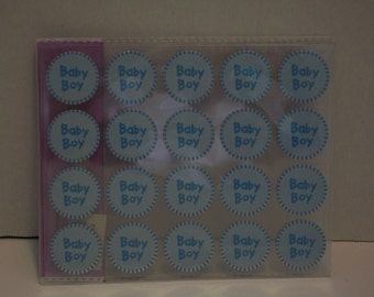 Baby Boy/Baby Girl Baby Shower Invitation stickers/envelope sealer (100 pieces/pkg) Please select the correct color.