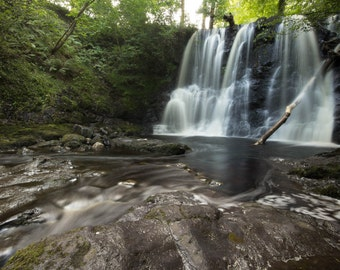 Glenariff Waterfall, Colour, photo, Landscape, Nature,A3