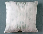 """Faded Gray Blue Dyed Throw Pillow, 18"""" with Insert"""