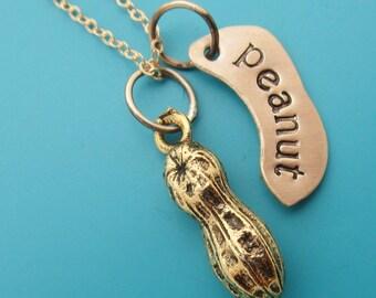Golden Peanut Necklace