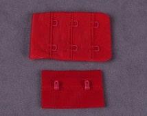 Red Bra Hook and Eye Tape - 2 rows - 5 Pair (HE132R-5)