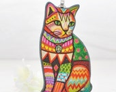 Bohemian Cat Necklace Siam - Kitty Cat - Cat Pendant - Kitty Cat Jewelry - Gift for Cat Lover