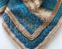 Crochet Pattern - Glenn Cove Lapghan - Baby Blanket Afghan - Throw Blanket or Babyghan - PDF Format