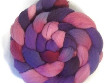 Handpainted Polwarth Wool Roving - 4 oz. METEOR SHOWER - Spinning Fiber