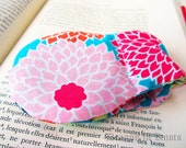 Book Weight - Aqua, Cranberry, Pink, Navy, Pale Green Fabric with Flowers - Floral Bookweight