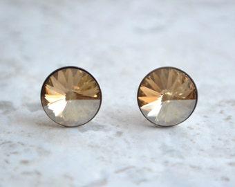 Danica - Golden Shadow Stud Earrings