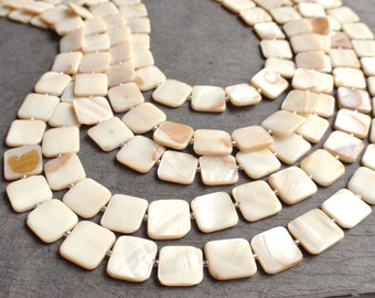 The Tegan- White Mother of Pearl Statement Necklace