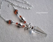 Baltic Amber toggle front pendulum necklace 18.5 inches by srgoddess
