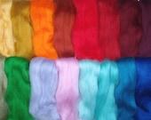 3.5oz /100g, 20 colours merino wool roving, sampler, felting wool, spinning fiber, needle felting wool, wet felting, dolls hair, mix, no. 12