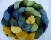 4.2oz, Merino wool roving, merino spinning fiber, hand painted merino roving, wet felting wool, nuno felting wool, merino felting wool, 120g