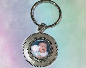 Double Sided Custom Swivel Key Chain - Custom Photo and/or Message