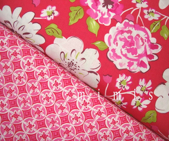 Ying ming in red oolong in fuchsia dena designs fabric for Dena designs tea garden fabric