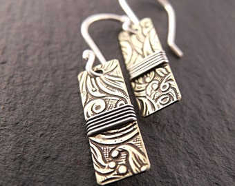 Wrapped Patterned Earrings