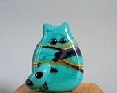RESERVED for MA - Cat Bead Handmade Lampwork Focal - Kramden  FatCat