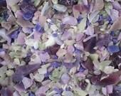Destash Glass Frit Blend Lavender Purple Blue Taupe Spiral Dance Glass COE 96 1.0 oz Bag