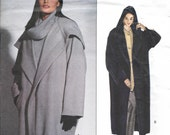 Vogue 2995 - CALVIN KLEIN Oversized Cocoon Style COAT - Sewing Pattern  - Sizes 18-20-22 - Uncut