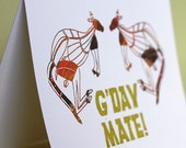 G'day Mate Note Cards, set of four
