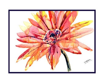 Watercolor African Daisy Notecards, Notecards, Daisy Art,Daisy Prints, Daisies, Gift Box, Stocking Stuffers