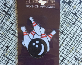 Patch Ems iron-on Appliques Bowling Ball and Pins patch