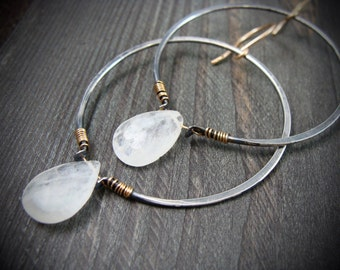 orical ... sterling silver hoops