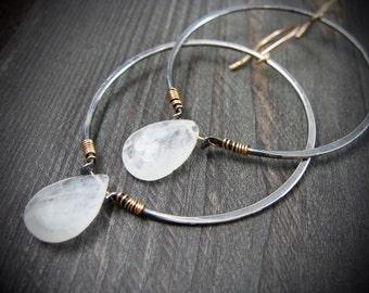 oracle ... sterling silver hoops